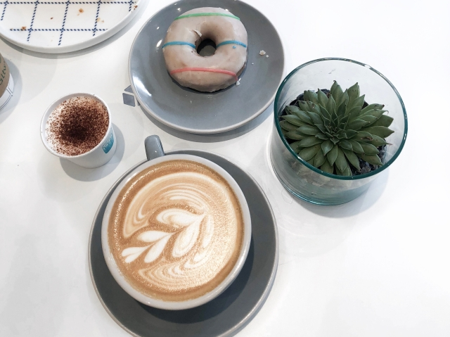 coffee and donuts alone time